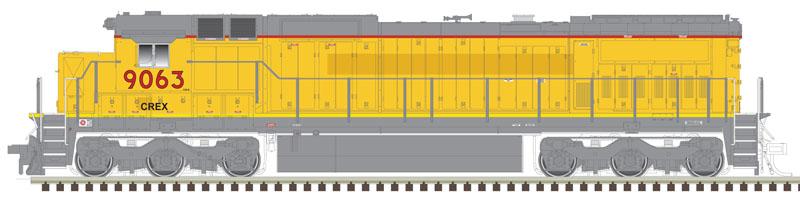 N Master Ge Dash 8-40C Locomotive, N Scale Master | Atlas ... on